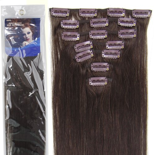 "20""7pcs Fashional Clips in Remy Human Hair Extensions 24 Colors for Women  Beauty Hot Sale ... cedb5e63b0"
