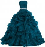 ANTS-Womens-Pretty-Ball-Gown-Quinceanera-Dress-Ruffle-Prom-Dresses-Size-8-US-Teal-Blue-0
