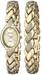 Armitron-Womens-753901CHGPST-Swarovski-Crystal-Accented-Gold-Tone-Bracelet-and-Watch-Set-0