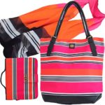Bagabook-Bold-Candy-Stripe-Design-Daily-Essentials-Set-Tote-Style-Shoulder-Bag-Fashion-Scarf-Executive-Book-or-Bible-Cover-Carrier-0
