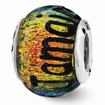 Best-Designer-Jewelry-Sterling-Silver-Reflections-Jamaica-Orange-Dichroic-Glass-Bead-0
