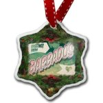 Christmas-Ornament-Greetings-from-Barbados-Vintage-Postcard-Neonblond-0