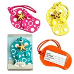 Colorful-Unique-Flip-Flop-Luggage-Tags-Set-of-4-in-Blue-Yellow-Pink-and-Orange-0