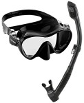 Cressi-Scuba-Diving-Snorkeling-Freediving-Mask-Snorkel-Set-Black-0