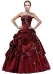 DLFashion-Strapless-A-line-Embroidered-Taffeta-Prom-Dress-M-10-Burgundy-0