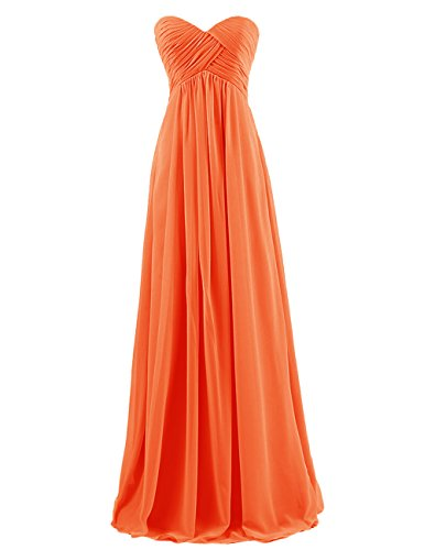 Dresstells Sweetheart Bridesmaid Chiffon Prom Dresses Long Evening