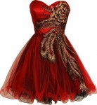 Metallic-Peacock-Embroidered-Holiday-Party-Homecoming-Prom-Dress-3X-Red-0