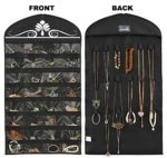 Misslo-Black-Jewelry-Hanging-Non-woven-Organizer-Holder-32-Pockets-18-Hook-and-Loops-0