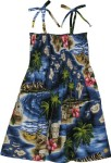 RJC-Girls-Hibiscus-Hawaiian-Islands-Elastic-Tube-Top-Sundress-Navy-Blue-10-0