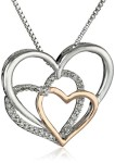 Sterling-Silver-14k-Rose-Gold-and-Diamond-Triple-Heart-Pendant-Necklace-09-cttw-I-J-Color-I2-I3-Clarity-18-0