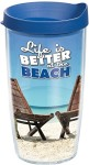 TERVIS-Life-is-Better-at-The-Beach-Wrap-Tumbler-with-Blue-Lid-16-Ounce-0