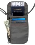 Travel-Navigator-Neck-Wallet-and-Passport-Holder-with-RFID-Blocking-Grey-0