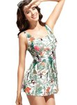 Womens-Sexy-Fitted-Tropical-Floral-Print-Two-Piece-Tankini-Swimsuit-0