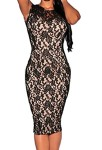 Zkess-Womens-Sleeveless-Lace-Cocktail-Party-Dress-Medium-Size-Black-0