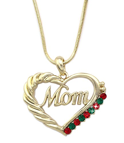 Cocojewelry mother s day mom word engraved heart love for Jewelry for mom for christmas